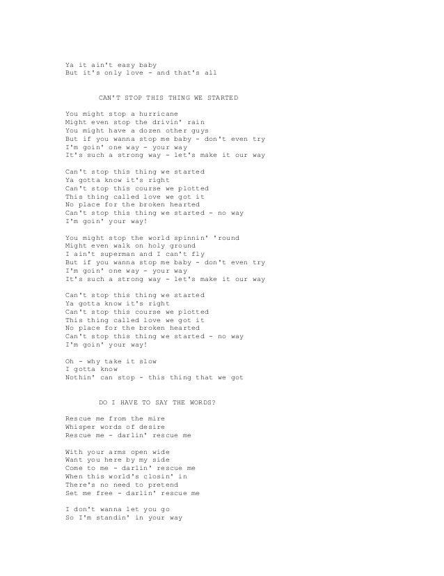 Lyric don t tell me what to do lyrics : BRAYAN ADAMS SONG LYRICS