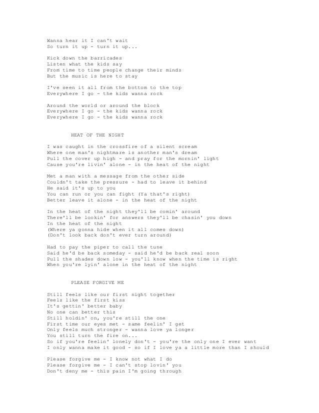 Lyric look up song by lyrics : BRAYAN ADAMS SONG LYRICS