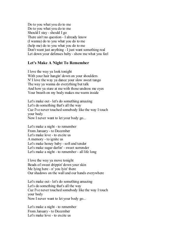 I just want to feel real love lyrics