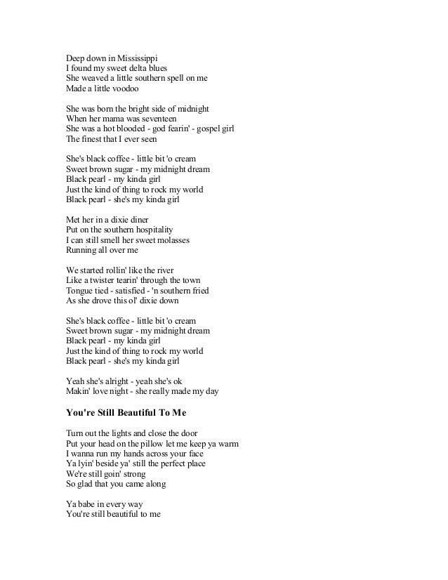 You Rock My Terrene Black Coffee Lyrics