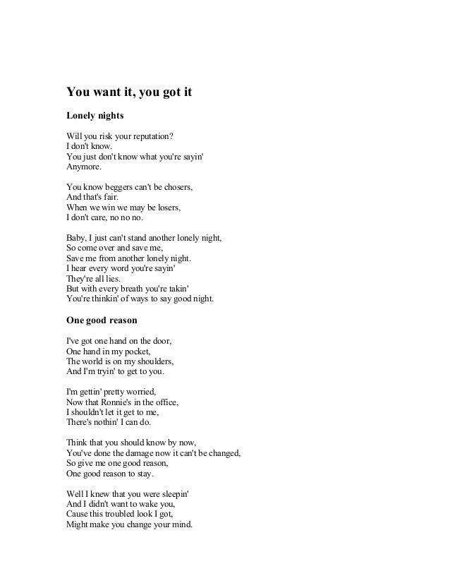 I Just Don T Know Anymore Lyrics