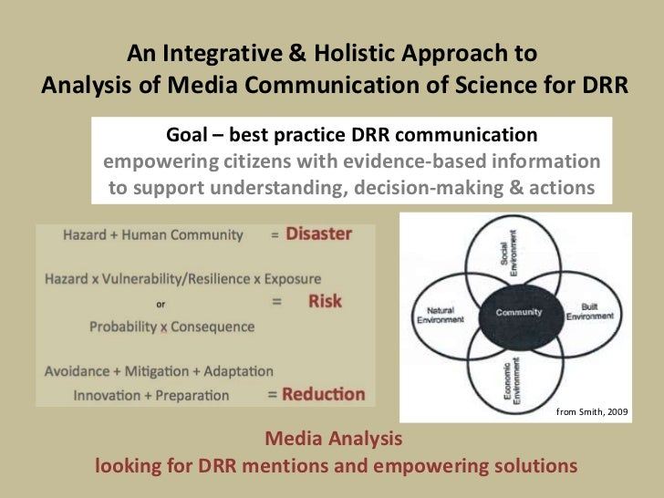 an analysis of the science of studying media and communication A content analysis was performed to ascertain how the study was represented in five domains of communication: the original scientific article, a press release, the traditional news media, online reader comments and blog entries.
