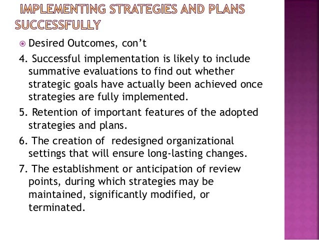 Bryson  chapter 9  implementing strategies and plans