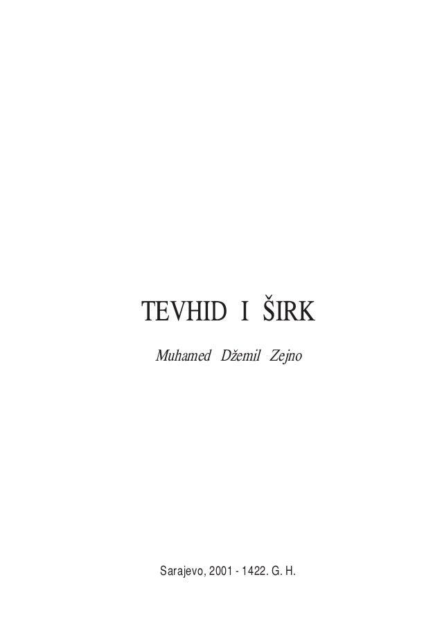 TEVHID I [IRK Muhamed D`emil Zejno Sarajevo, 2001 - 1422. G. H.