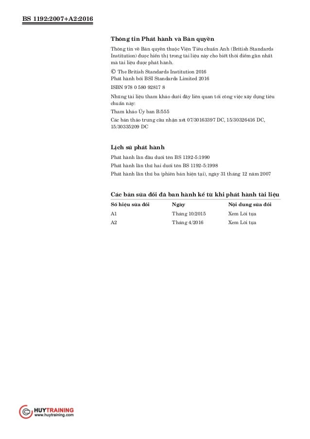 Tiêu chuẩn BS 1192 2007 A2 2016 Slide 2