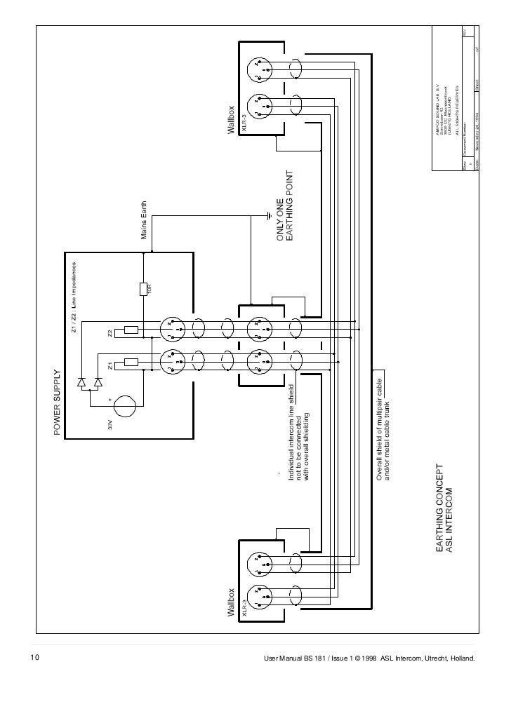 ASL Intercom BS181 – Intercom Wiring Diagram Of Unit 10