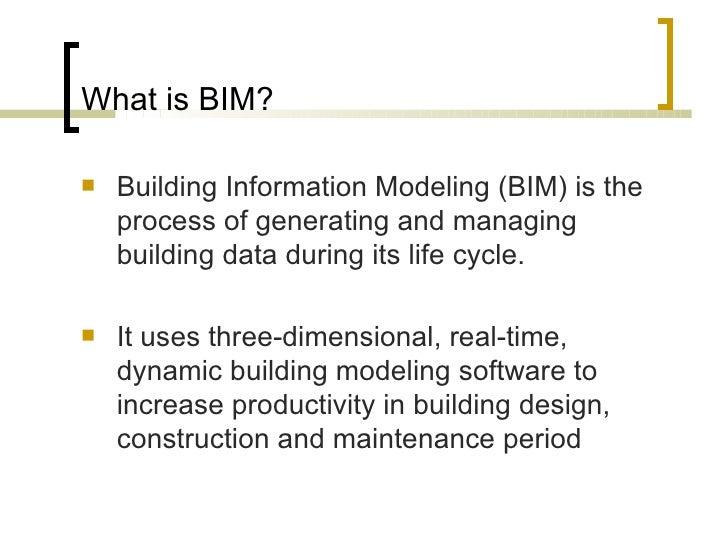Building Information Modeling Bim Industry Foundation Classes I
