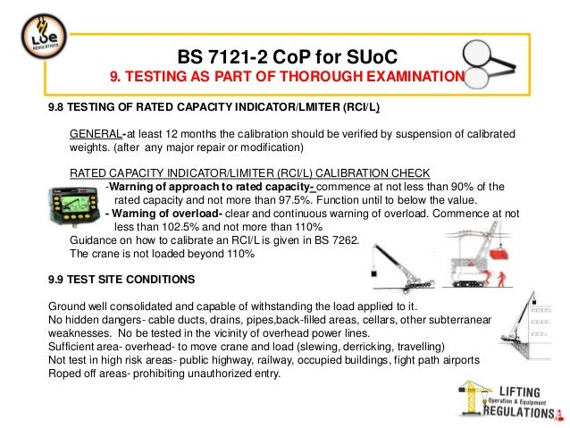 Bs 7121 2 inspection testing and examination cranes appropriate design authority 12 fandeluxe Gallery