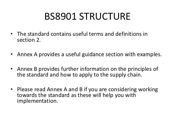 BS 8901 - Sustainability in the Events Industry
