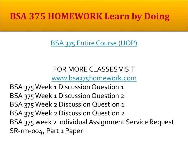 Bsa 375 week 2 individual paper