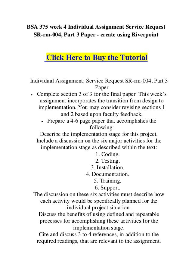 final paper bsa 375 Bsa 375 week 5 team assignment kudler frequent shoppers program learning team assignment: service request sr-kf-013 draft the final 4-6 page section of the paper.