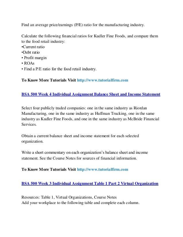 BSA 500 NEW UOP Courses / Uoptutorial Essay