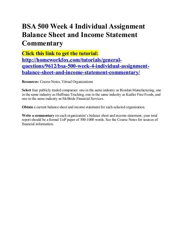 Riordan Balance Sheet
