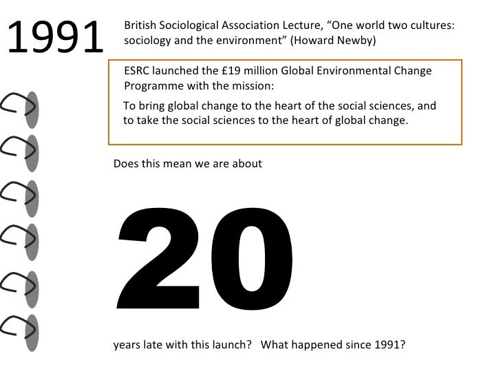 To bring global change to the heart of the social sciences, and to take the social sciences to the heart of global change....