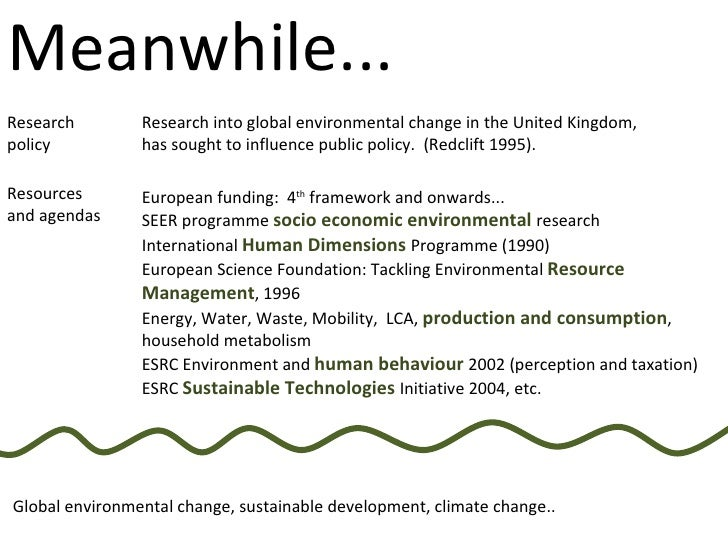 European funding:  4 th  framework and onwards...  SEER programme  socio economic environmental  research International  H...