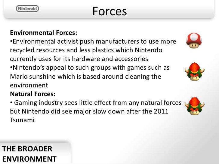 nintendo company analysis essay Read this full essay on case study: nintendo nintendo's success: the wii  a  swot analysis to understand current and potential environments or services that .