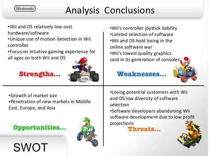 nintendo wii analysis A strategy analysis of nintendo - executive summary - corinna jung - research paper (undergraduate) - business economics - business management, corporate governance.