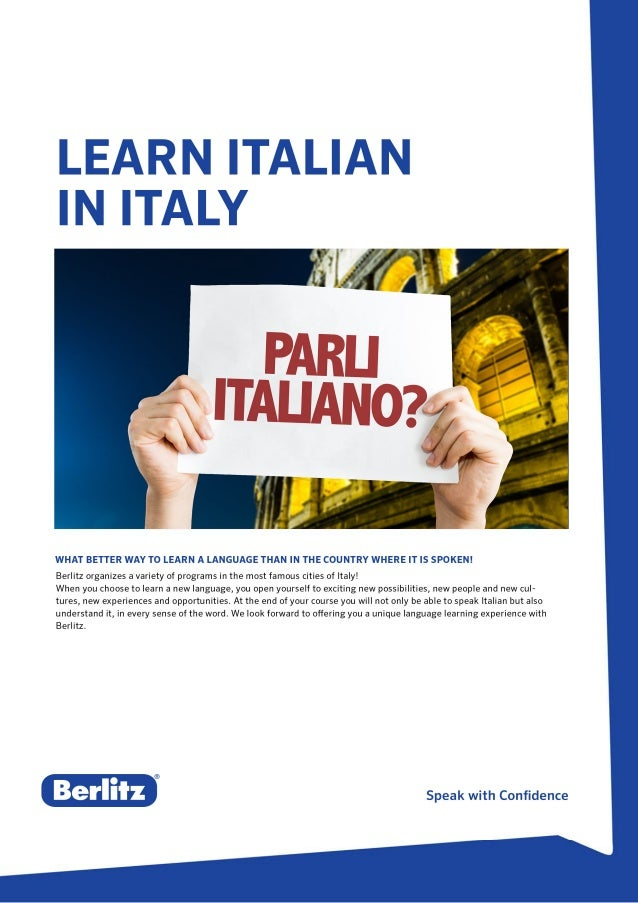 Berlitz Study Abroad in Rome and Milan, Italy