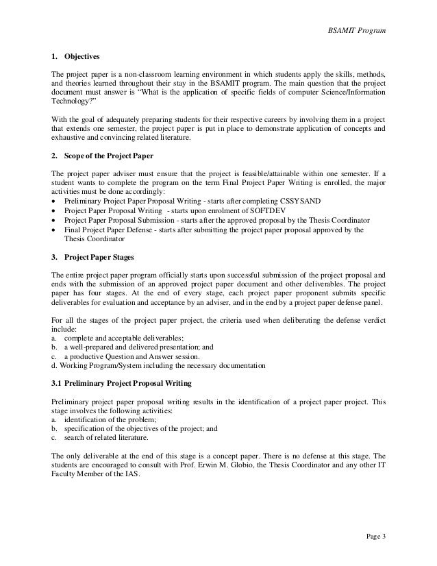 Proposal For A Project Project Program Proposal Format Download