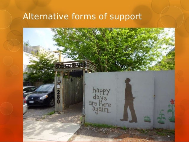 Alternative forms of support