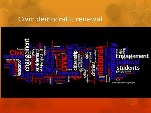 Civic democratic renewal