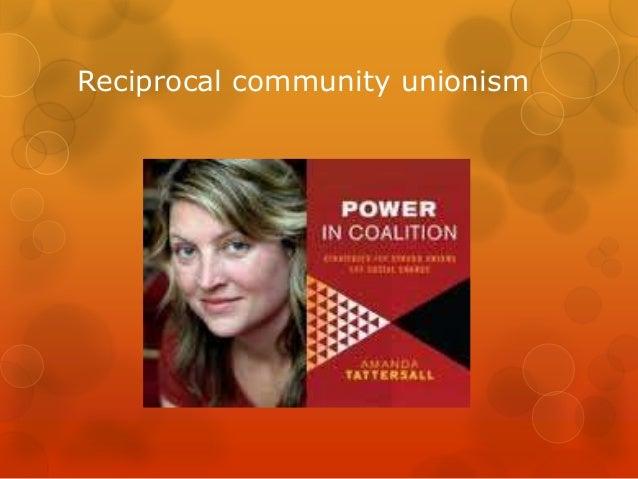 Reciprocal community unionism