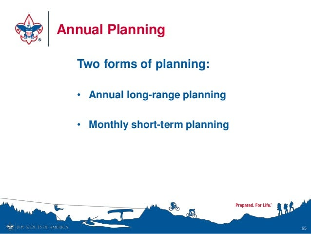 Annual Planning Two forms of planning: • Annual long-range planning • Monthly short-term planning 65