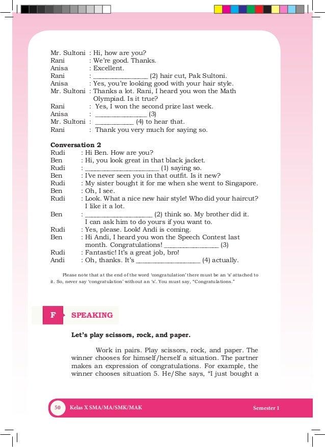 Bs Bahasa Inggris Kelas X Semester 1 11 April 2014