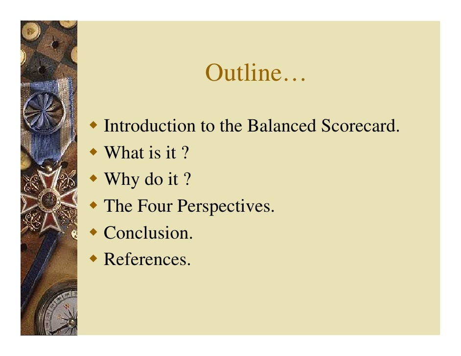 introduction to balanced scorecard An introduction to balanced scorecards as part of the perfect desire documentation balanced scorecards is an easy-to-learn approach it allows for a quick top-down.