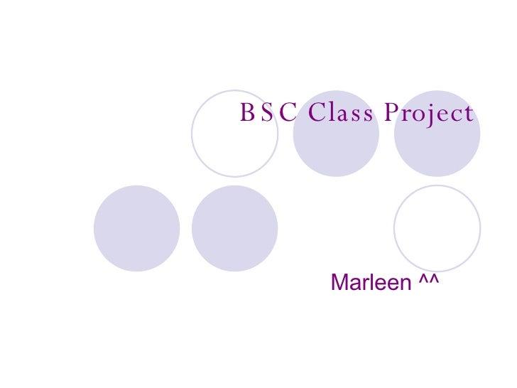 BSC Class Project Marleen ^^