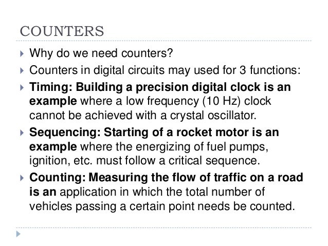 B sc cs i bo-de u-iii counters & registers Slide 2