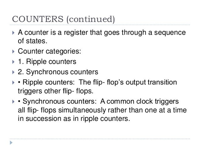 B sc cs i bo-de u-iii counters & registers Slide 3