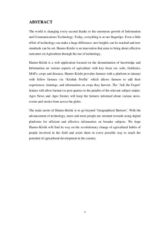 BSc CSIT Final Year Project Report on Hamro Krishi - Nepal Slide 2
