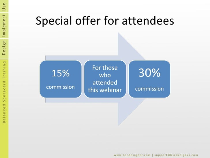 Special offer for attendees