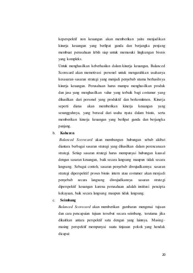 Makalah balanced scorecard dengan perluasan perspektif rencana strategi 20 20 keperspektif non keuangan ccuart Choice Image