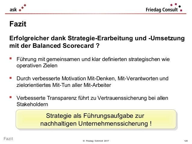 © Friedag / Schmidt 2017  Führung mit gemeinsamen und klar definierten strategischen wie operativen Zielen  Durch verbes...
