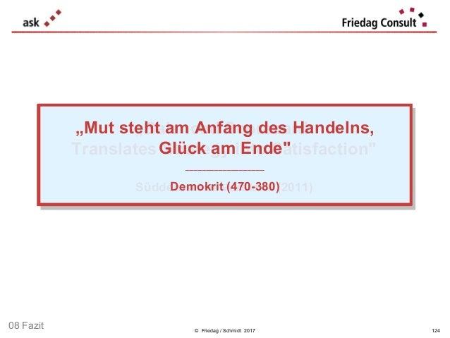 """© Friedag / Schmidt 2017 """"Balanced Scorecard Translates Strategy into Satisfaction"""" ___________________ Süddeutscher Vorst..."""