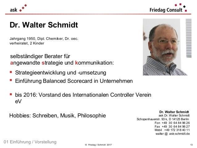 © Friedag / Schmidt 2017  Strategieentwicklung und -umsetzung  Einführung Balanced Scorecard in Unternehmen  bis 2016: ...