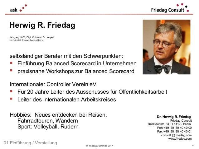 © Friedag / Schmidt 2017 selbständiger Berater mit den Schwerpunkten:  Einführung Balanced Scorecard in Unternehmen  pra...