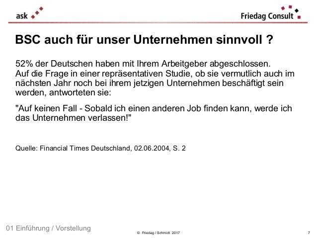 © Friedag / Schmidt 2017 52% der Deutschen haben mit Ihrem Arbeitgeber abgeschlossen. Auf die Frage in einer repräsentativ...