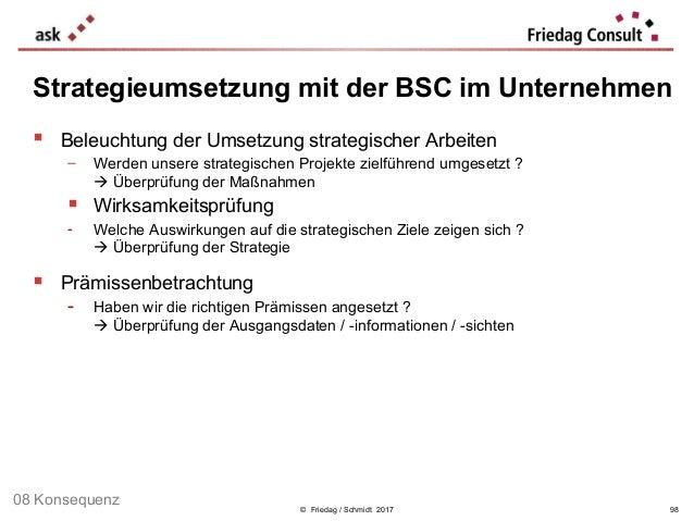 © Friedag / Schmidt 2017  Beleuchtung der Umsetzung strategischer Arbeiten − Werden unsere strategischen Projekte zielfüh...