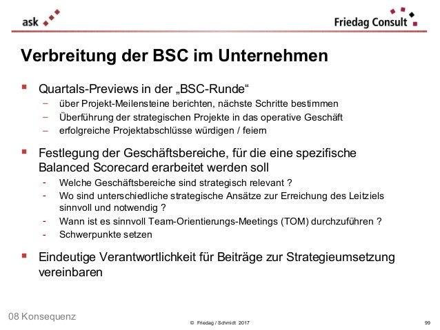 """© Friedag / Schmidt 2017  Quartals-Previews in der """"BSC-Runde"""" − über Projekt-Meilensteine berichten, nächste Schritte be..."""