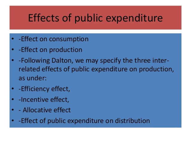 canons of public expenditure