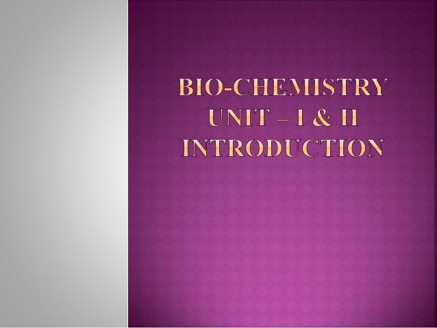  Bio-chemistry is the study of chemical substances and vital processes occurring in living organisms . it includes the st...