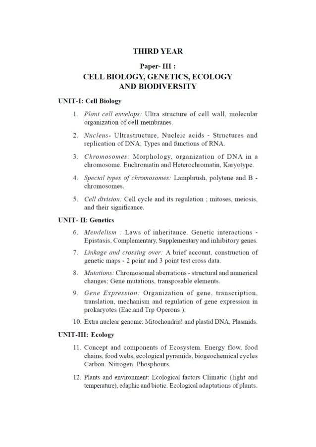 B sc Botany Syllabus KU