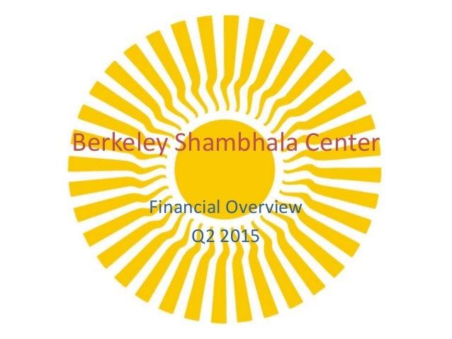 Berkeley Shambhala Center Financial Overview Q2 2015