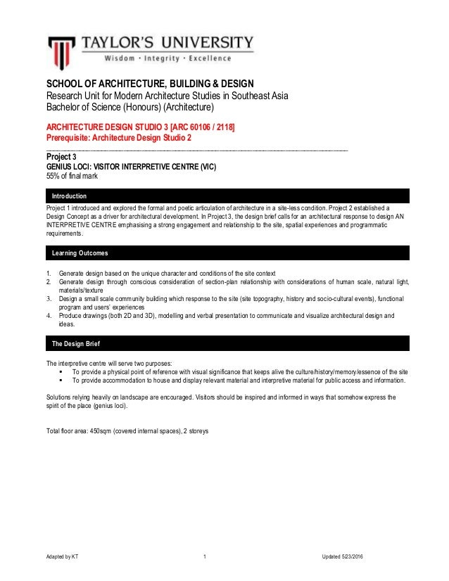Adapted by KT 1 Updated 5/23/2016 SCHOOL OF ARCHITECTURE, BUILDING & DESIGN Research Unit for Modern Architecture Studies ...