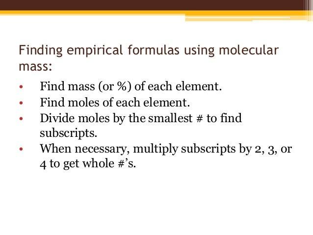 determining empirical formula