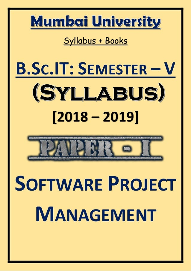 B Sc IT: Semester - V – Syllabus (2018 - 2019) [Mumbai University]