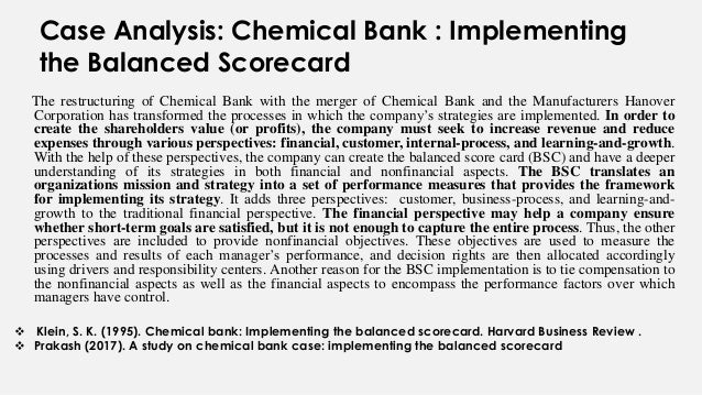 chemical bank case study